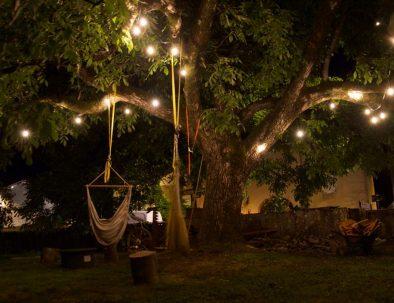 hangmatten in de heerlijke tuin